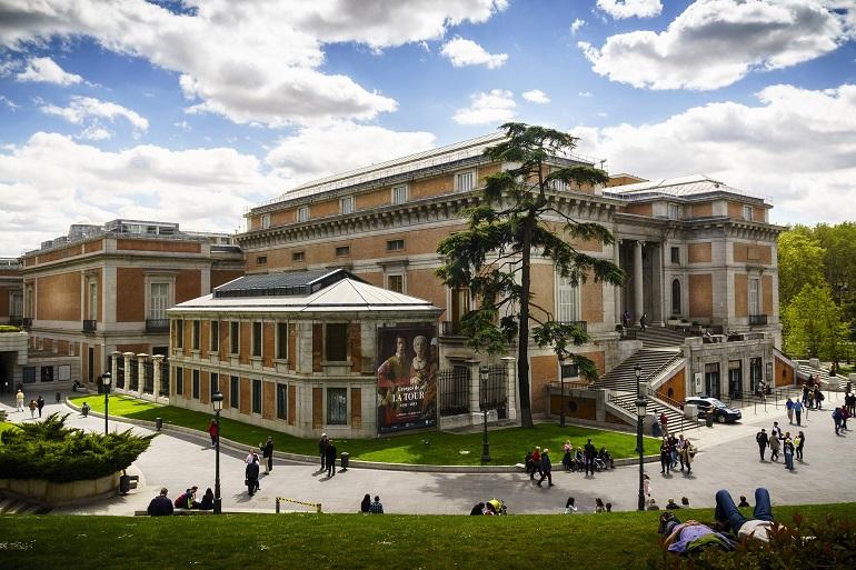Exterior del edificio del Museo del Prado