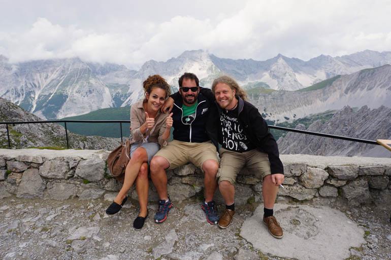 Con Lisa y Julius, nuestros anfitriones en Innsbruck