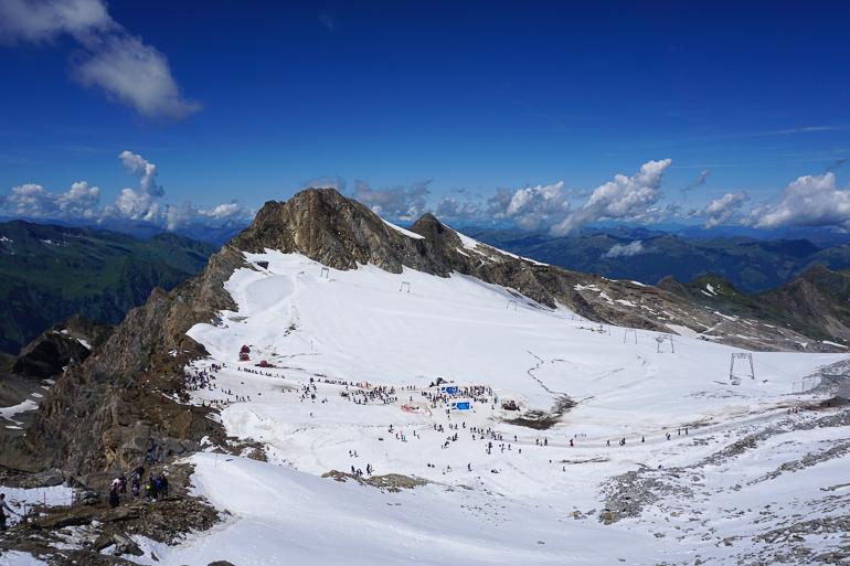 Vistas del glaciar Kitzsteinhorn desde la plataforma panorámica
