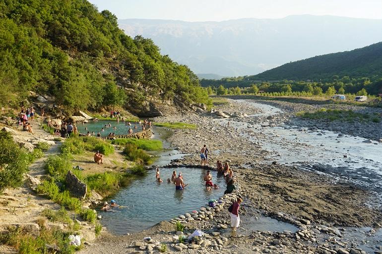 Termas naturales de Përmet, qué ver en albania