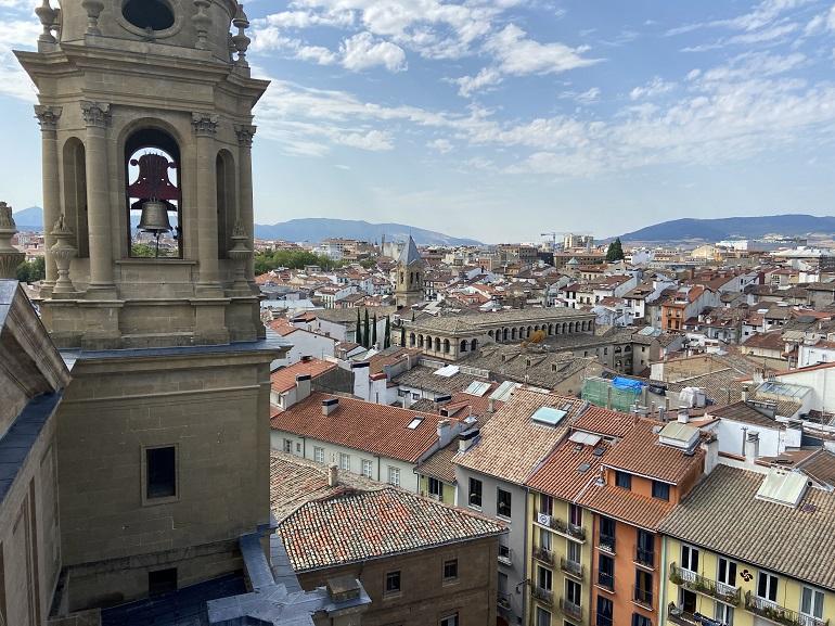 Vistas de Pamplona desde la torre de la catedral