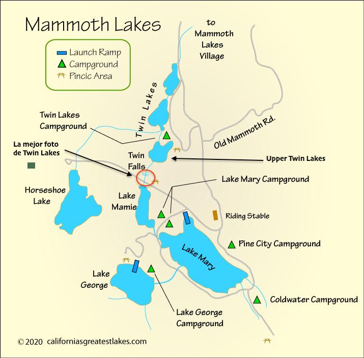 Mapa de Mammoth Lakes