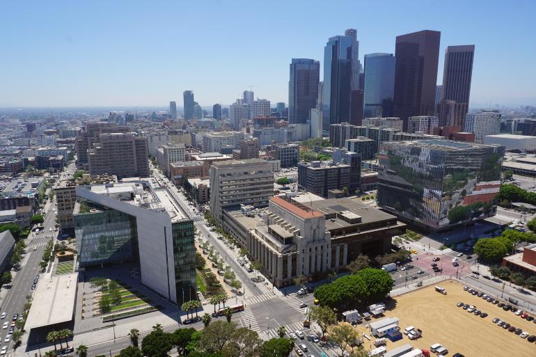 Panorámica del Downtown de Los Ángeles desde el ayuntamiento