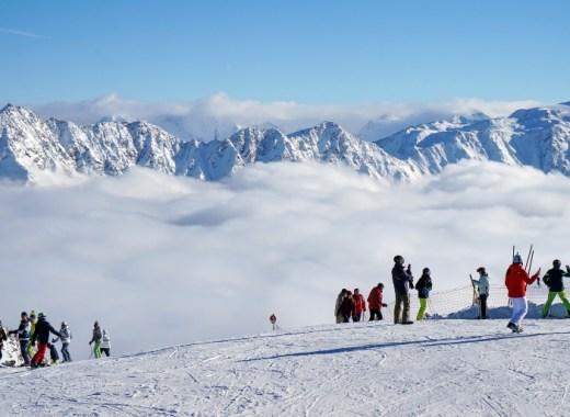 Pista de esquí de la estación de Solden en Austria