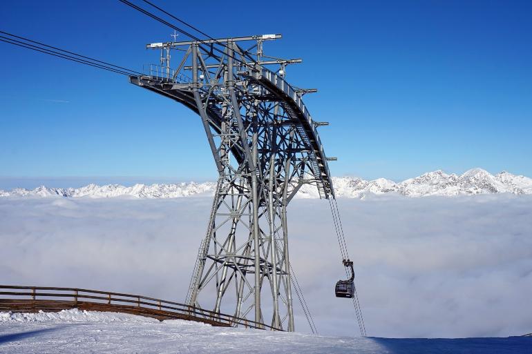 Telesilla de Solden en Austria