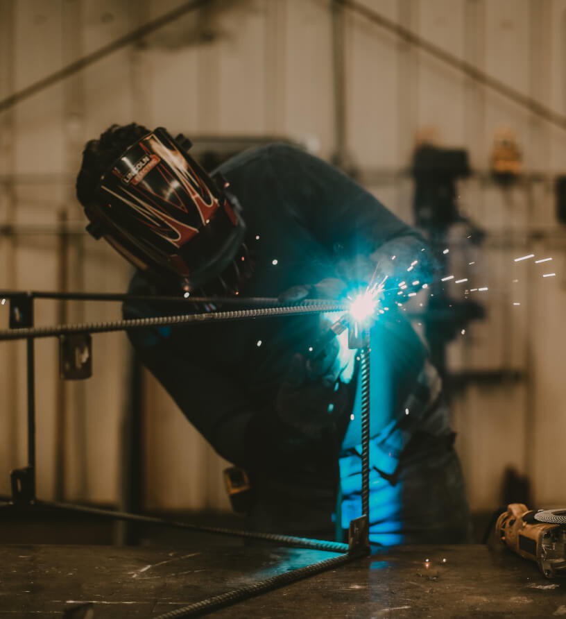 Welding with a mask