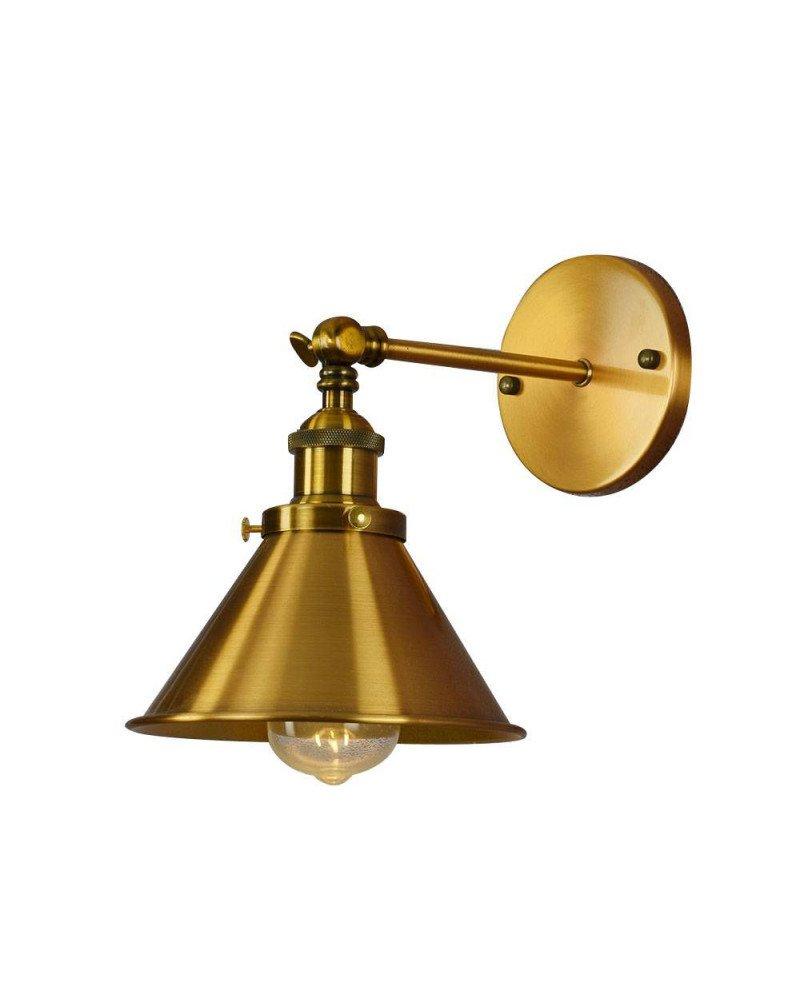 Lampada da parete in ottone dorato con braccio GUBI W1 lampadevintage