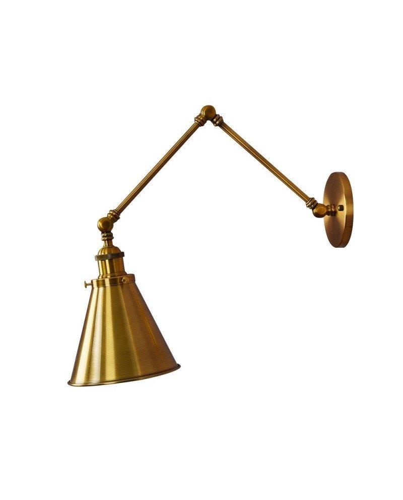 applique vintage industriale ottone rustica