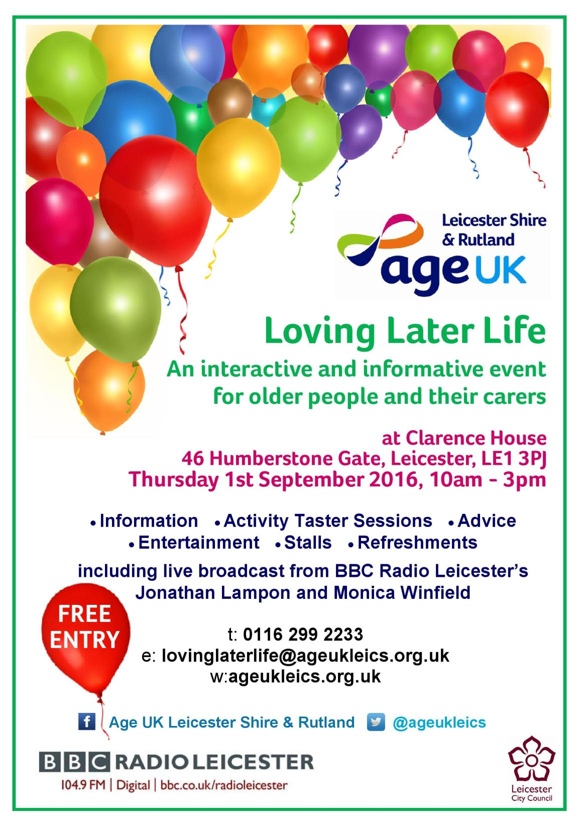 An interactive and informative event for older people and their carers