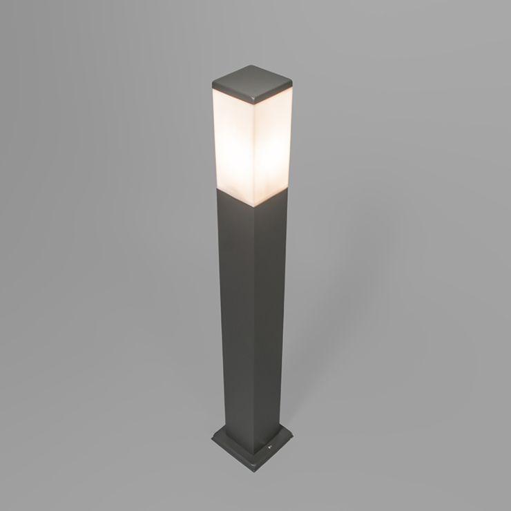 modern outdoor lamp post dark gray 80 cm ip44 malios