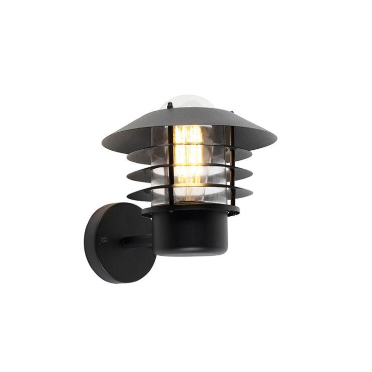 modern outdoor wall lamp black ip44 prato up