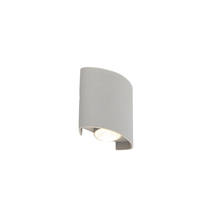 design outdoor wall lamp silver incl led 2 lights silly