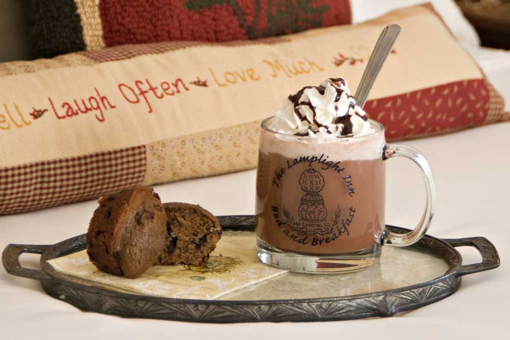 Hot chocolate and muffins