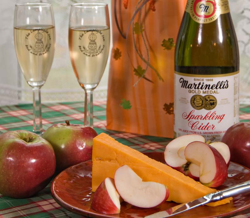 Apple, Cheese and Wine at Lamplight Inn Bed & Breakfast near Saratoga Springs