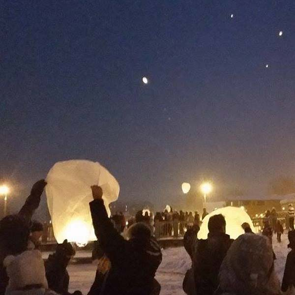Launching Paper Lanterns over Lake George