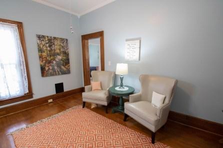 Sitting area of Sunrise Suite