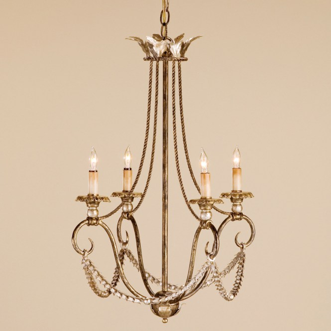 Currey And Company 9461 Anise Four Light Chandelier