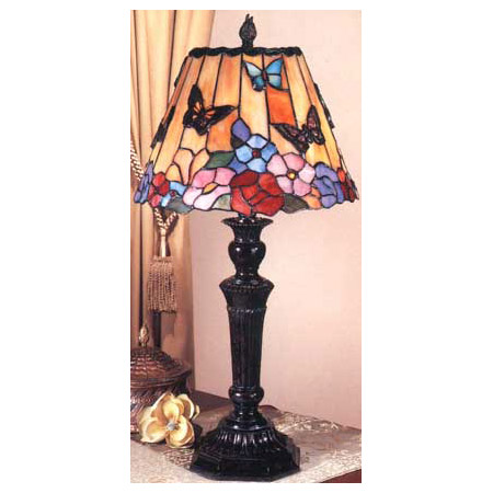 Dale Tiffany Tt100587 Tiffany Butterfly Floral Table Lamp