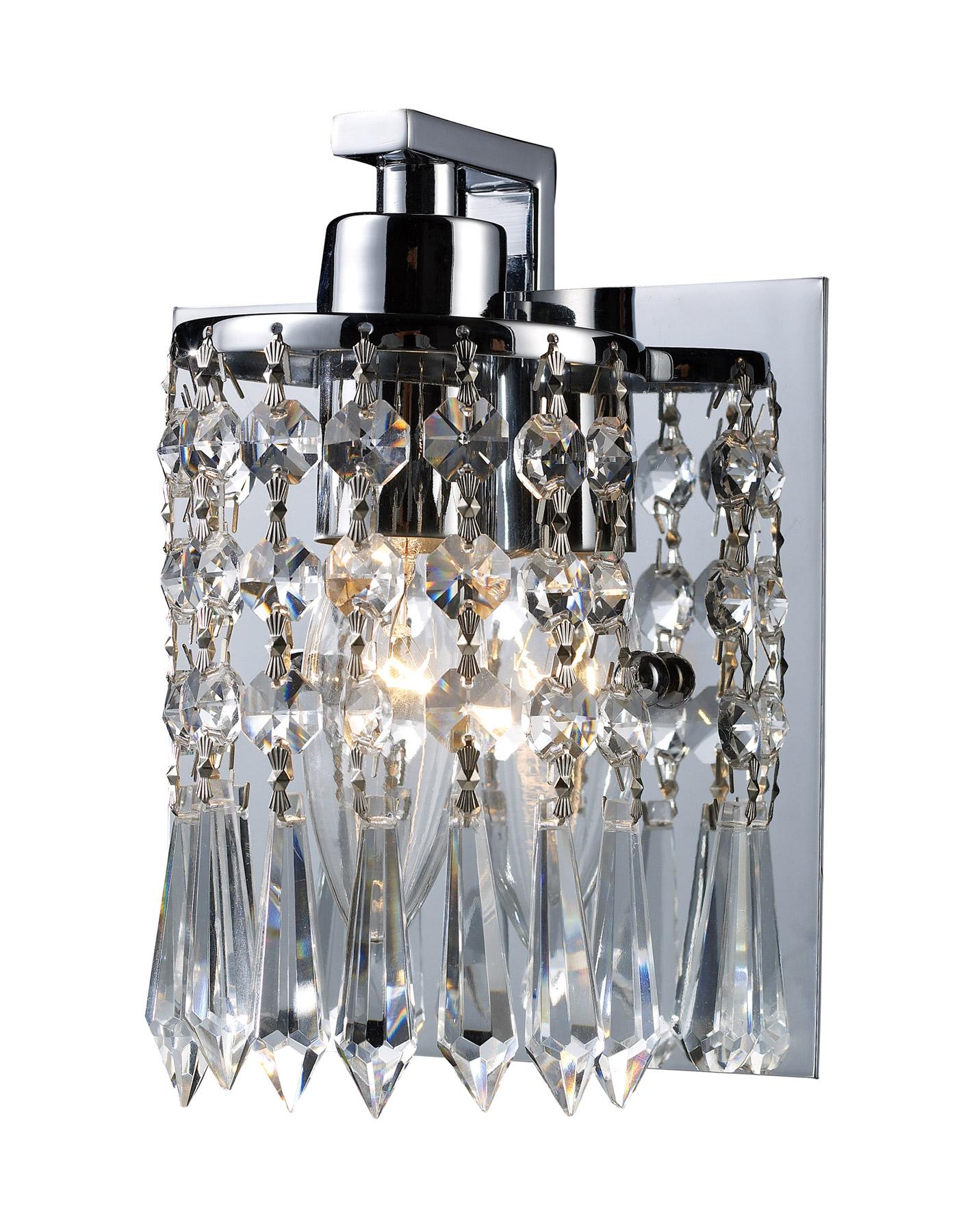 Elk Lighting 11228/1 Crystal Optix Wall Sconce on Crystal Bathroom Sconces id=93736
