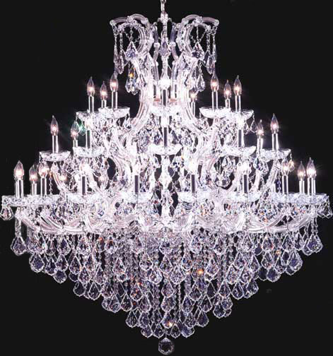 James Moder 91770s22 Crystal Maria Theresa Grand Thrity Seven Light Chandelier