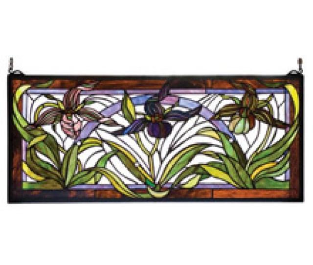 Meyda  Tiffany Lady Slippers Stained Glass Window