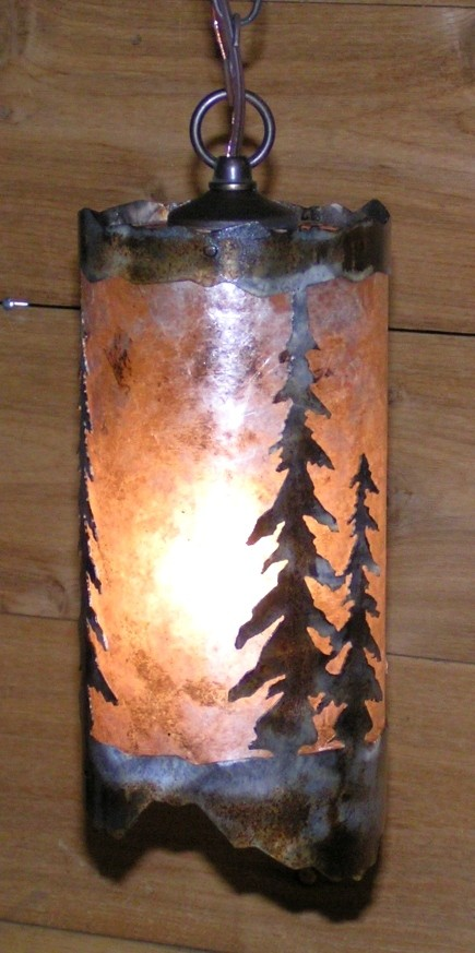 Rust Pendant Light