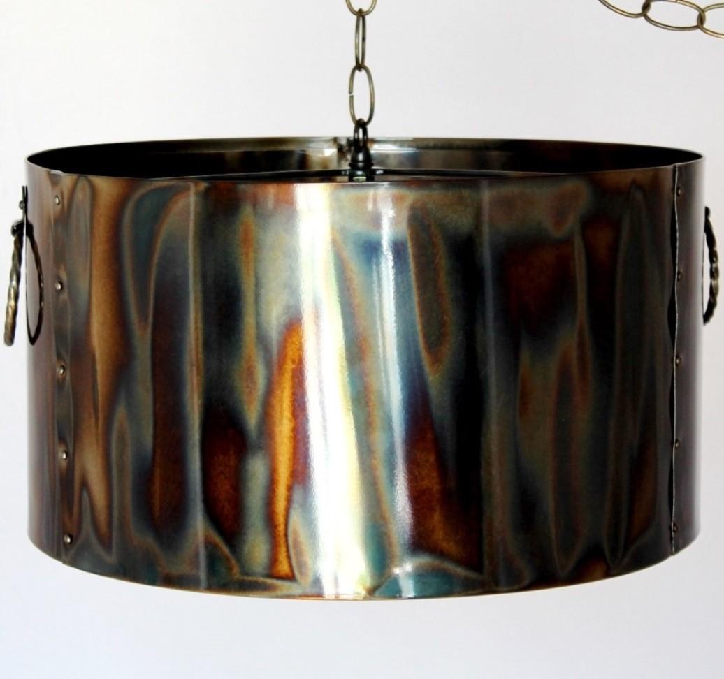 Industrial Metal Drum Pendant Light 16 20W