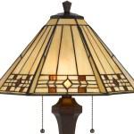 Cream With Amber Jewels Mission Tiffany Floor Lamp Bo 2676fl