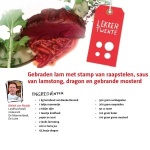 Lekker Twente gebraden lam Bloemenbeek