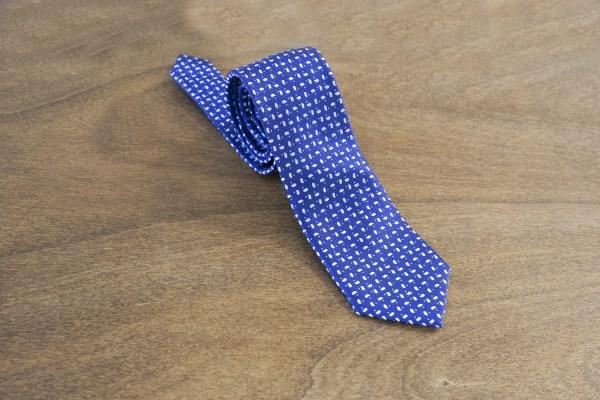 Cravatta fantasia fondo azzurro mod. 010
