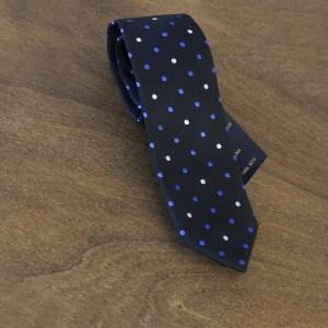Cravatta a pois fondo nero mod. 112