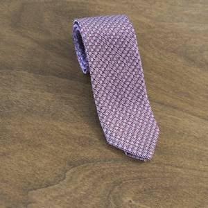 Cravatta fantasia fondo rosso mod. 126