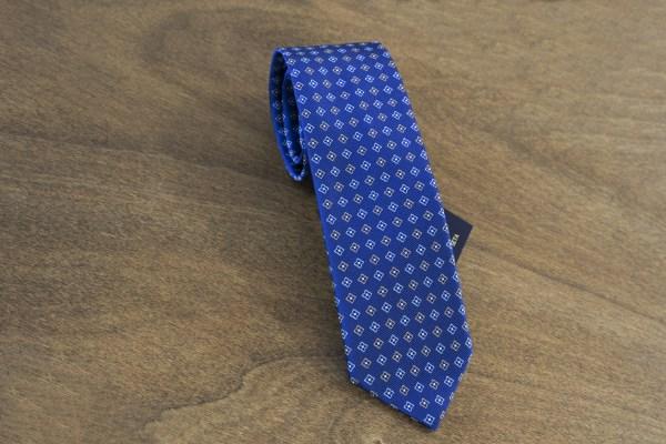 Cravatta fantasia fondo blu mod. 139