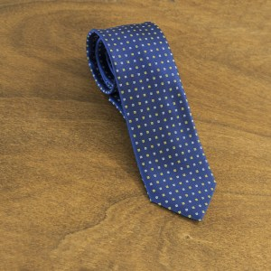 Cravatta fantasia fondo blu mod. 156