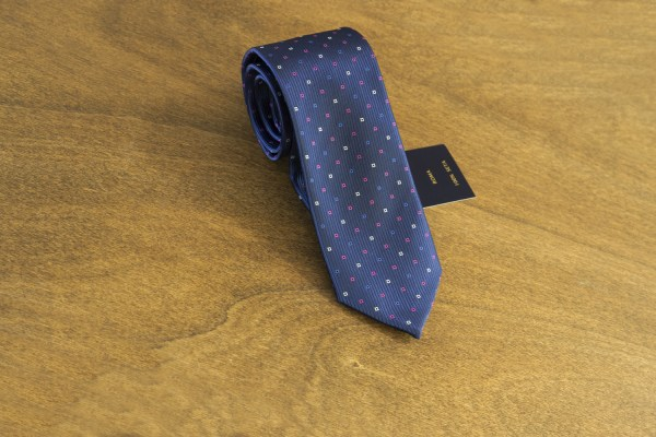 Cravatta fantasia fondo blu mod. 158