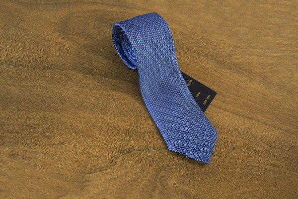 Cravatta fantasia fondo azzurro mod. 163