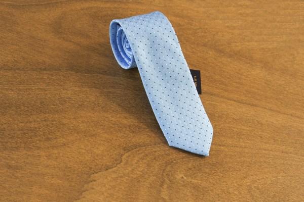 Cravatta fantasia fondo celeste mod. 164