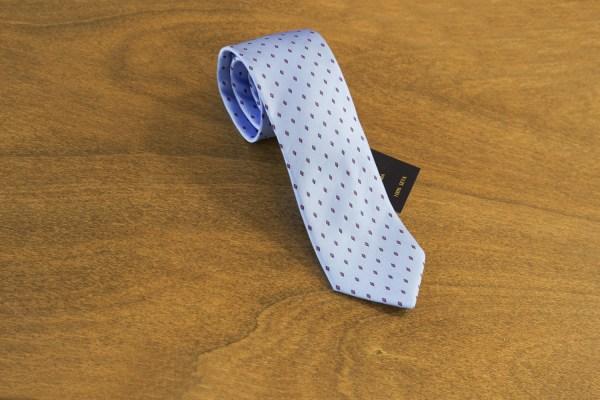 Cravatta fantasia fondo celeste mod. 166