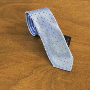 Cravatta fantasia fondo celeste mod. 167