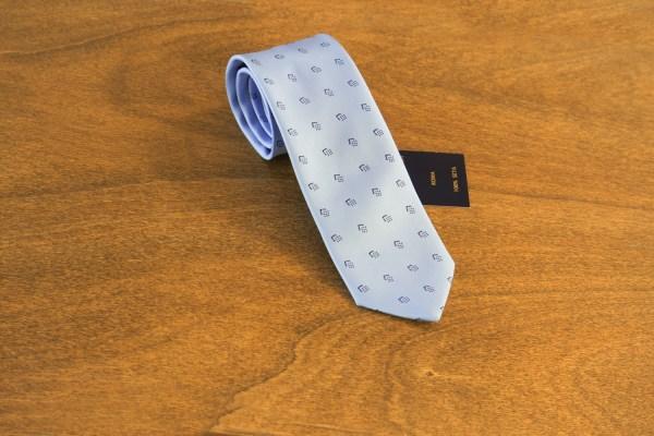 Cravatta fantasia fondo celeste mod. 168