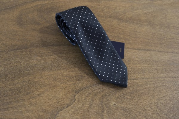 Cravatta a pois fondo nero mod. 177
