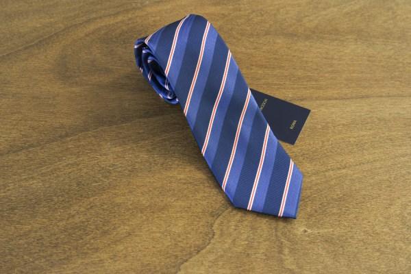 Cravatta a righe fondo blu mod. 180