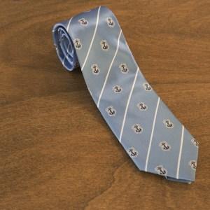 Cravatta a righe fondo celeste mod. 209