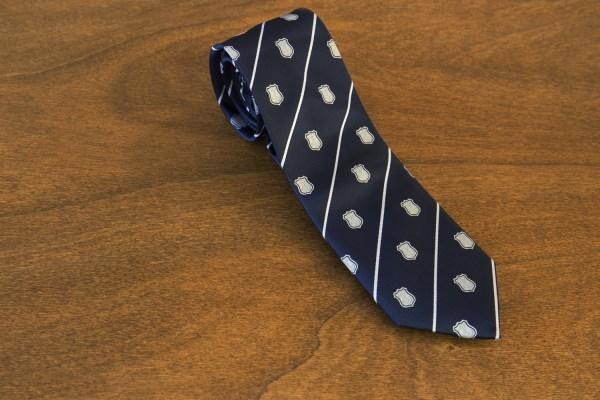 Cravatta a righe fondo blu mod. 213