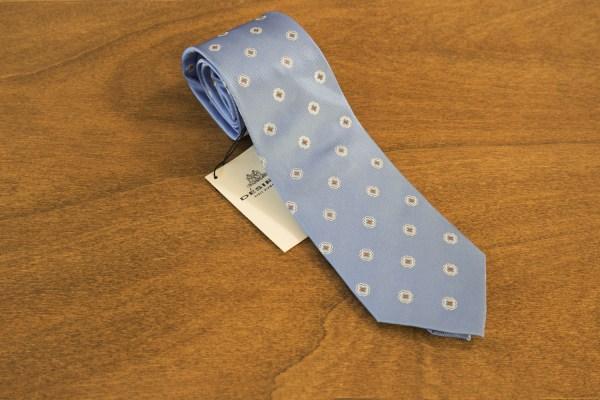 Cravatta fantasia fondo celeste mod. 242