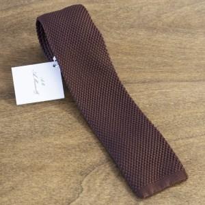 Cravatta in maglina fondo marrone mod. 295