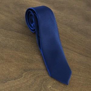 Cravatta tinta unita fondo blu mod. 031