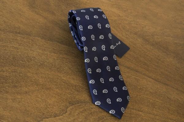 Cravatta fantasia fondo blu mod. 035