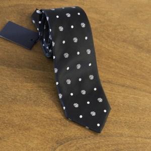 Cravatta fantasia fondo blu mod. 042