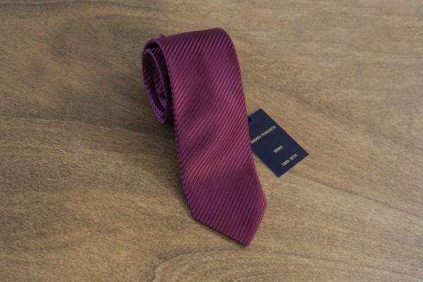 Cravatta tinta unita fondo bordeaux mod. 063